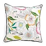Garden Floral Print Pillow ($25)