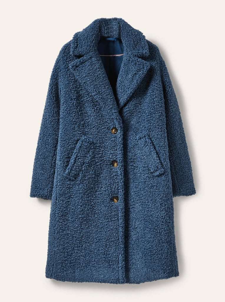 Boden Canterbury Teddy Coat — Sapphire