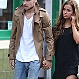 Liam Payne took a break on set with his girlfriend.