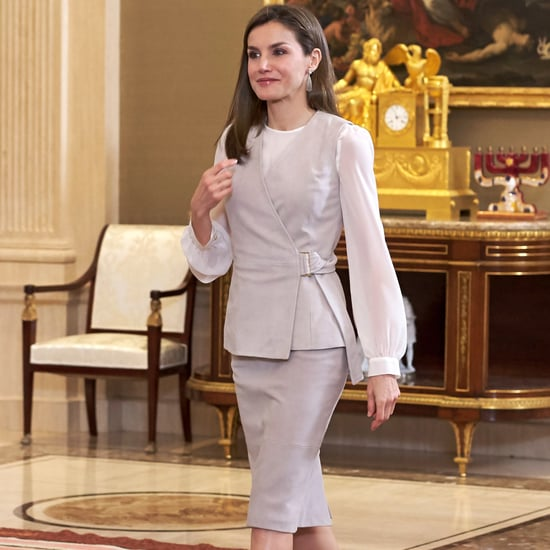 Queen Letizia's Hugo Boss Waistcoat May 2017