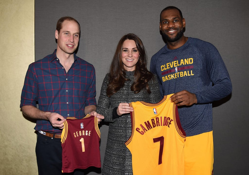 After attending an NYC basketball game in December 2014, Kate and Will met basketball superstar LeBron James.