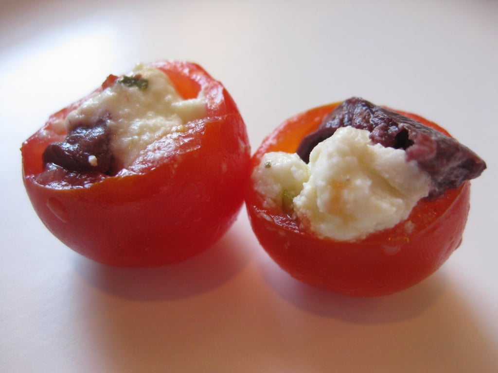 Cherry Tomatoes Stuffed with Marinated Feta