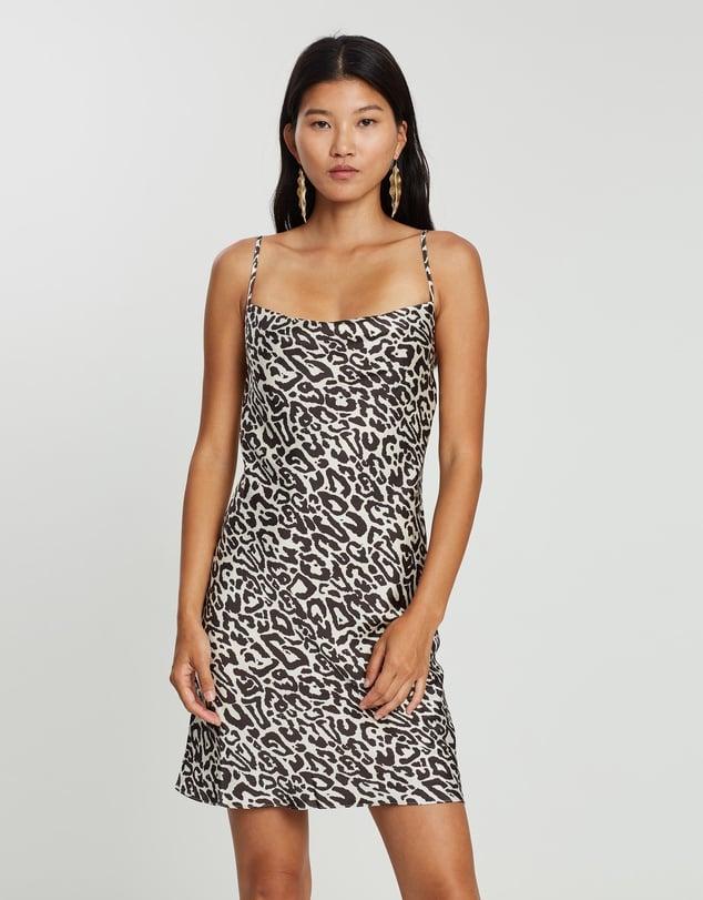 Shona Joy Cowl Bias Mini Dress ($190)