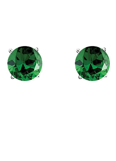 Crislu's Cubic Zirconia Emerald Stud Earrings ($90) are a sweet, simple alternative to silver or gold.