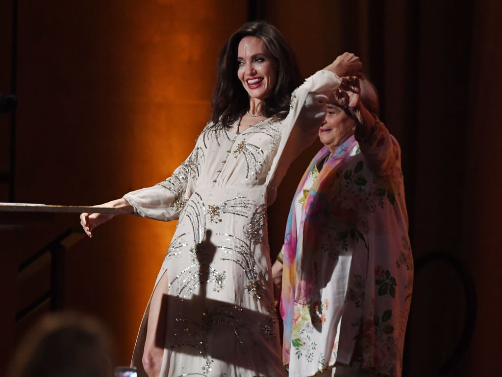"Angelina Jolie was one of the many stars who attended the Governors Awards in LA on Saturday night. Dressed in a gorgeous sequinned gown, the actress was on hand to present the coveted honorary award to director Agnes Varda, 89, but what Angelina didn't see coming was the celebratory dance that followed. After Angelina gave Agnes her award, the director told the audience, ""Tonight, I feel like dancing."" Angelina happily obliged, and the two proceeded to twirl each other around on stage. Honestly, the entire thing is just too cute not to watch.       Related:                                                                                                           Angelina Jolie Drops Jaws While Being Honoured at the Hollywood Film Awards                 #AngelinaJolie dances onstage with film director #AgnèsVarda, who received an Honorary #AcademyAward at the 9th #GovernorAwards. pic.twitter.com/lHuN2Q1Nwh — Angelina Jolie ❤️ (@AngelinaJ_1975) November 12, 2017"