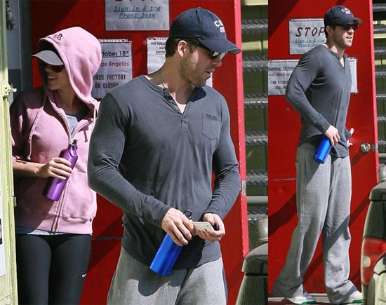 Photos of Ryan Reynolds and Scarlett Johansson Leaving the Gym