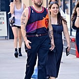 Jonah Hill and Beanie Feldstein in New York City in 2018