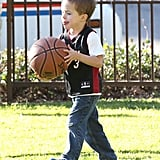 Mark Wahlberg Watches His Son Shoot Hoops With Wife Rhea Durham