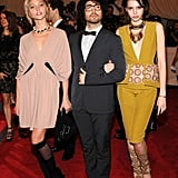 Sasha Pivovarova, Sean Lennon, and Charlotte Kemp Muhl, all in Marni