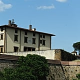 Kim and Kanye: Their whirlwind wedding weekend spanned 552 miles and two countries, with the couple kicking off the party in Paris before flying all of their guests to a 16th-century-era fortress in Florence (pictured above) for the official ceremony (because it's the city where they conceived their daughter, North). Although they originally wanted their wedding to be held in the Palace of Versailles, their permission was denied. Fortunately they were able to host a party there the night before the ceremony (which they arrived to in a horse-drawn carriage, naturally).