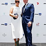 She Wore This Checked Design to the Magic Millions Race Day in 2017