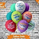 Baby Shark Balloon Labels