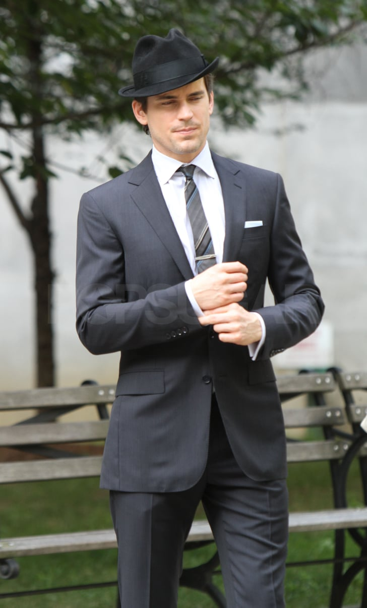 Matthew Bomer adjusted his perfect tailored suit.