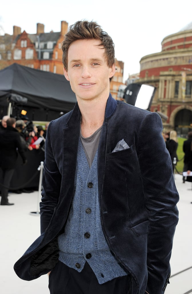 Eddie Redmayne attended the Fall 2012 Burberry show.