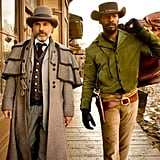 Christoph Waltz as Dr. King Schultz and Jamie Foxx as Django in Django Unchained.