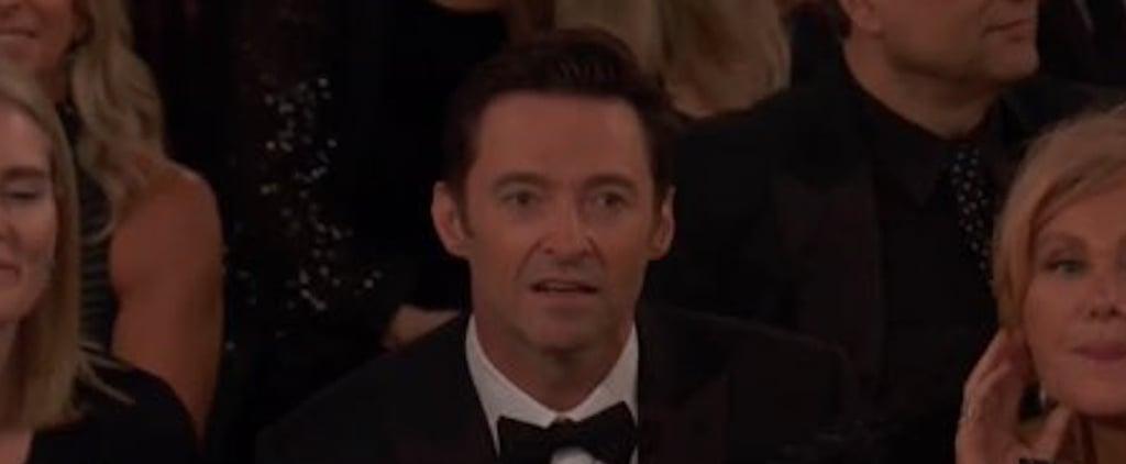 Hugh Jackman's Reaction to James Franco's Golden Globes Win