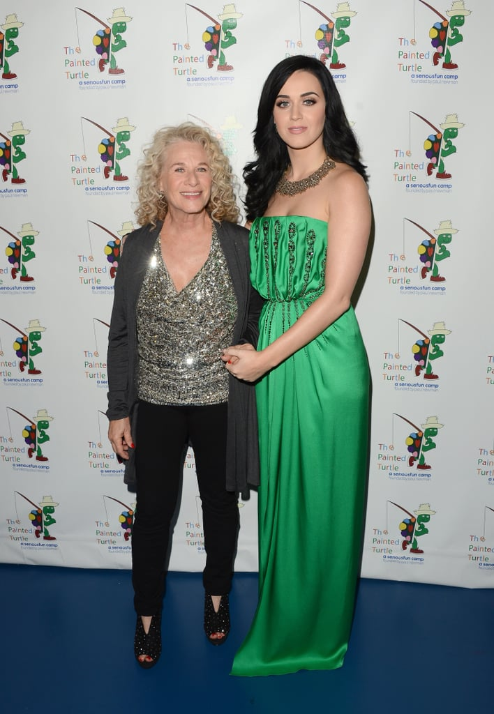 Legendary singer/songwriter Carole King posed with Katy Perry as she attended a celebration of her music in Hollywood on December 4.