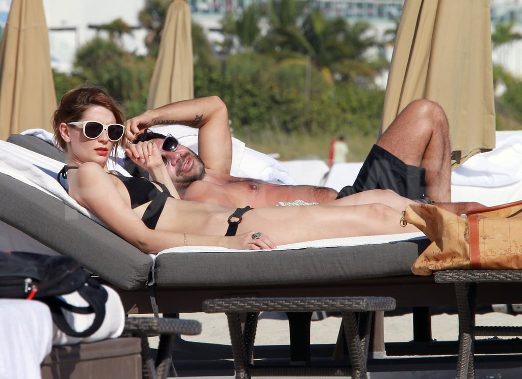 Mischa Barton caught up on some rest and relaxation in Miami.