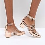 RAID Carmel Rose Gold Metallic Heels