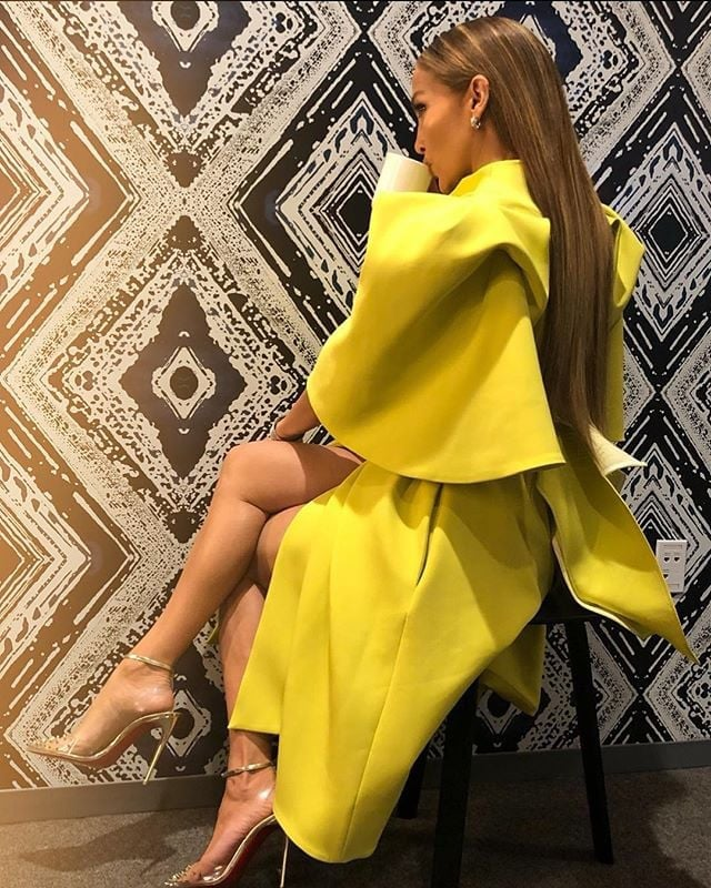Jennifer Lopez Sleek Hair 2019
