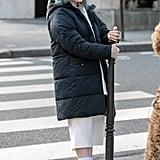 Billie Eilish's Long Black Puffer Coat