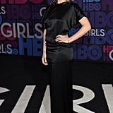 Jemima Kirke Looked Sultry in a Black Satin Dress