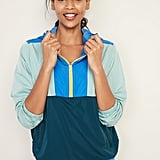 Go-H20 Water-Resistant Colour-Blocked Anorak for Women
