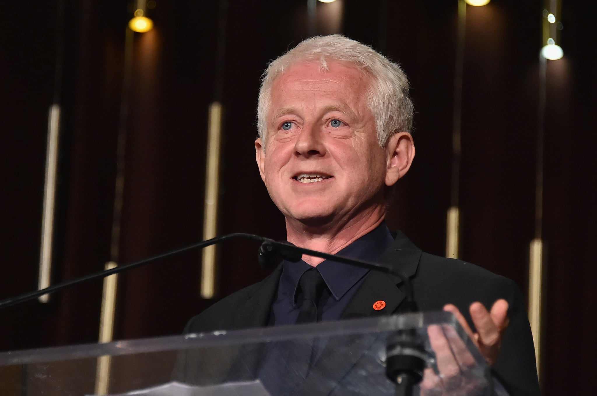 NEW YORK, NY - OCTOBER 25:  Writer, Campaigner and Red Nose Day Co-Founder and Advocate Award Recipient Richard Curtis speaks onstage during the 4th Annual Save the Children Illumination Gala at The Plaza hotel on October 25, 2016 in New York City.  (Photo by Mike Coppola/Getty Images for Save The Children)