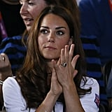 Kate Middleton watched boxing.