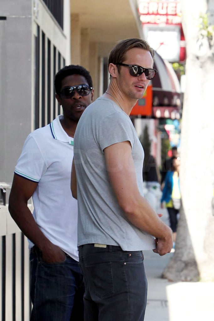 Alexander Skarsgard Gets In a Guys' Lunch Ahead of His Hot Cannes Trip