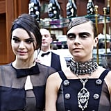Kendall and Cara Posed For the Cameras After the Show