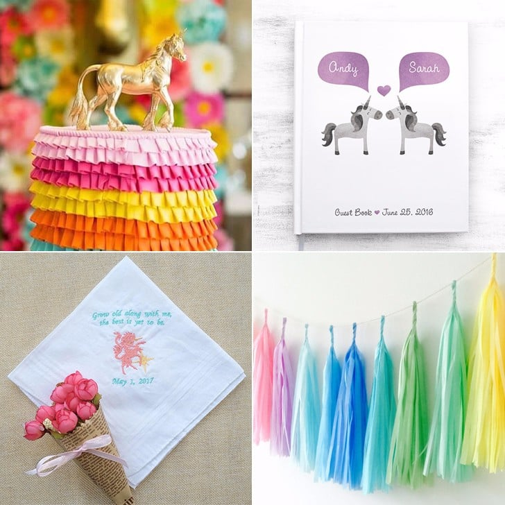 15 Cute Products For the Unicorn Wedding of Your Dreams