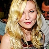 Kirsten Dunst sat front row at the Rodarte show.