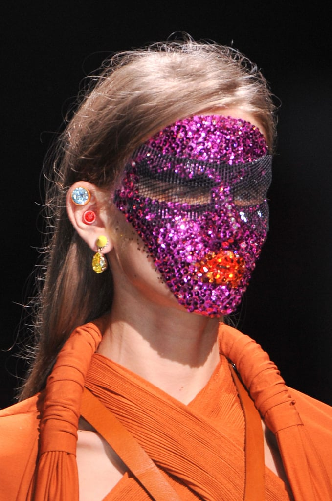 Sparkling Masks at Givenchy 2014 Spring Fashion Week