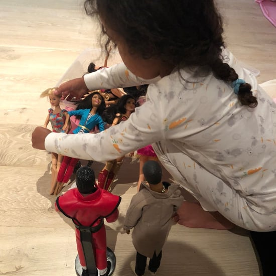 North West Playing With Kanye West Dolls