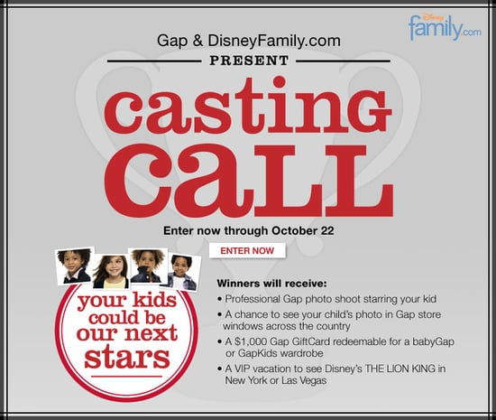 Gap Casting Call Beautiful Baby Contest