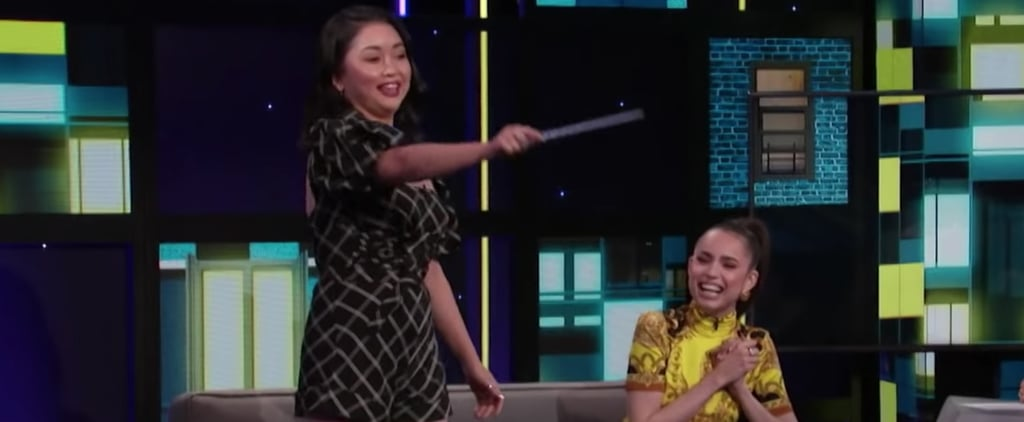 Sofia Carson Teaches Lana Condor Disney Channel Wand Video
