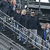 The Dunphys (Nolan Gould, Julie Bowen and Ty Burrell) did the Sydney Harbour Bridge climb on Feb. 22.