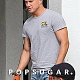 That t-shirt is nice and tight, but this is Magic Mike XXL, so we're kind of hoping for fewer pieces of clothing.