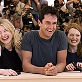 Cate Blanchett, Rupert Everett, and Julianne Moore cracked up while attending a photocall together back in 1999.