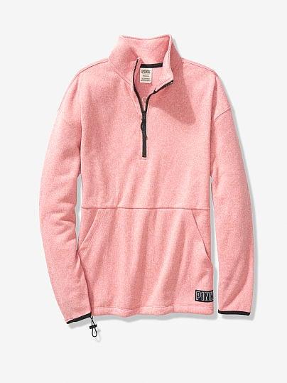 Sweater Knit Quarter-Zip Tunic