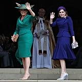 Prince Andrew and Sarah Ferguson at Eugenie's Wedding