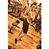 Demi Lovato snapped a selfie at the gym.