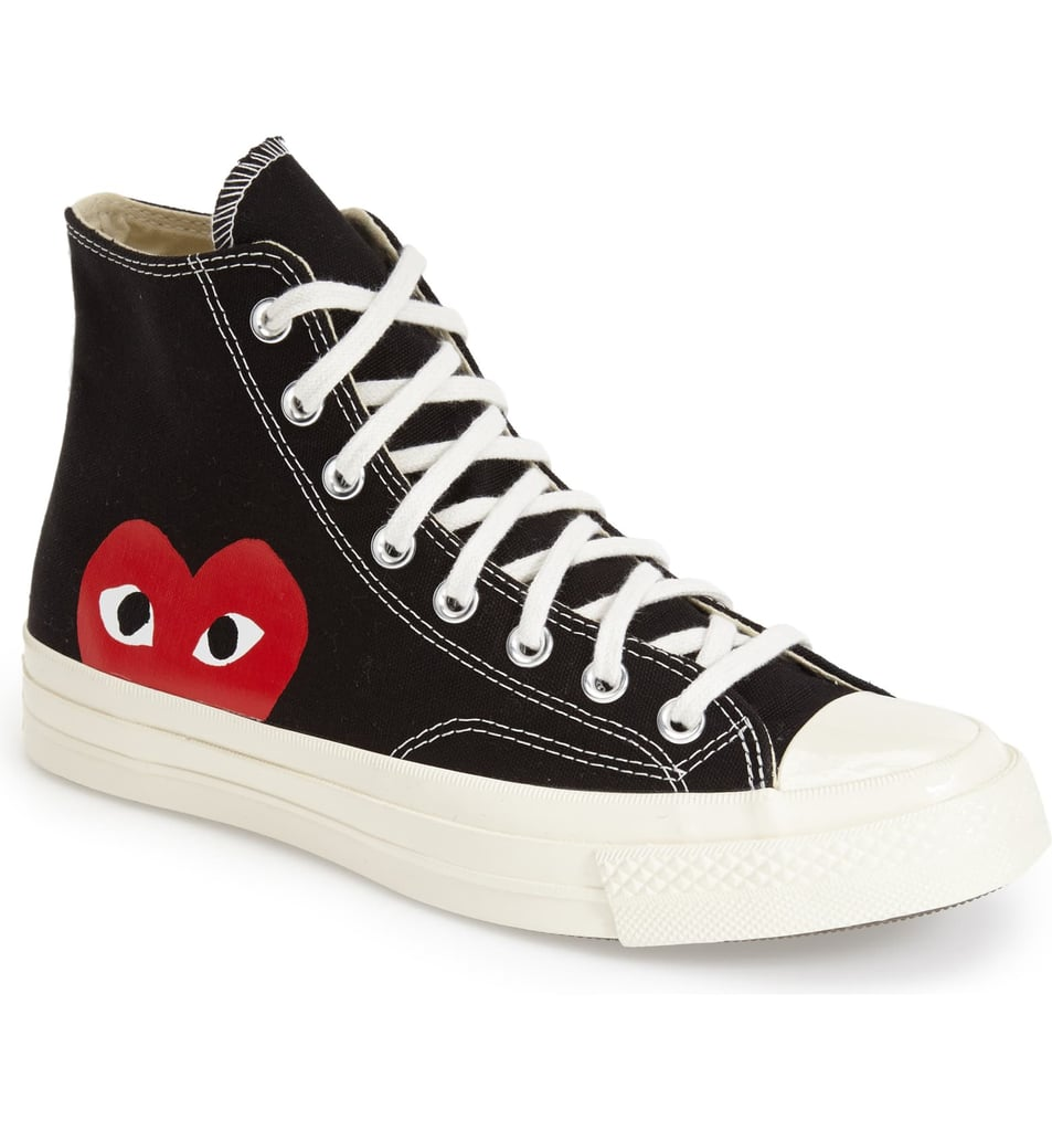 Comme des Garçons PLAY x Converse Chuck Taylor Hidden Heart High Top Sneakers