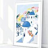 Santorini Greek Landscape Wall Art
