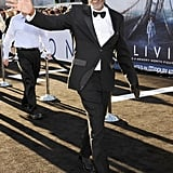 Morgan Freeman waved to fans at the Oblivion premiere in Hollywood.