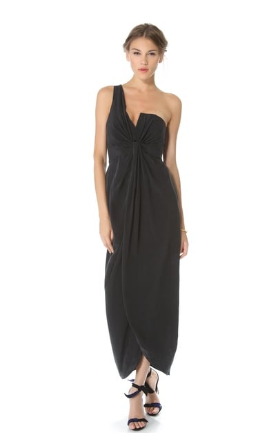 It may be black, but this Zimmermann One Shoulder Gown ($475) is hardly boring.