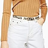 Topshop Leopard Skinny Belt