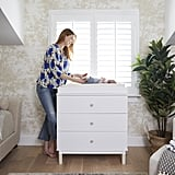 Donna describes the dresser-slash-changing-table as a sleek match to the modern crib.