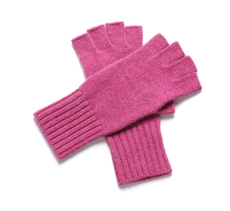 Keep your Winter color palette sweet with these girlie pink gloves. The muted tone makes it a pink hue worth mix-and-matching with. Portolano Fingerless Text Gloves ($27)